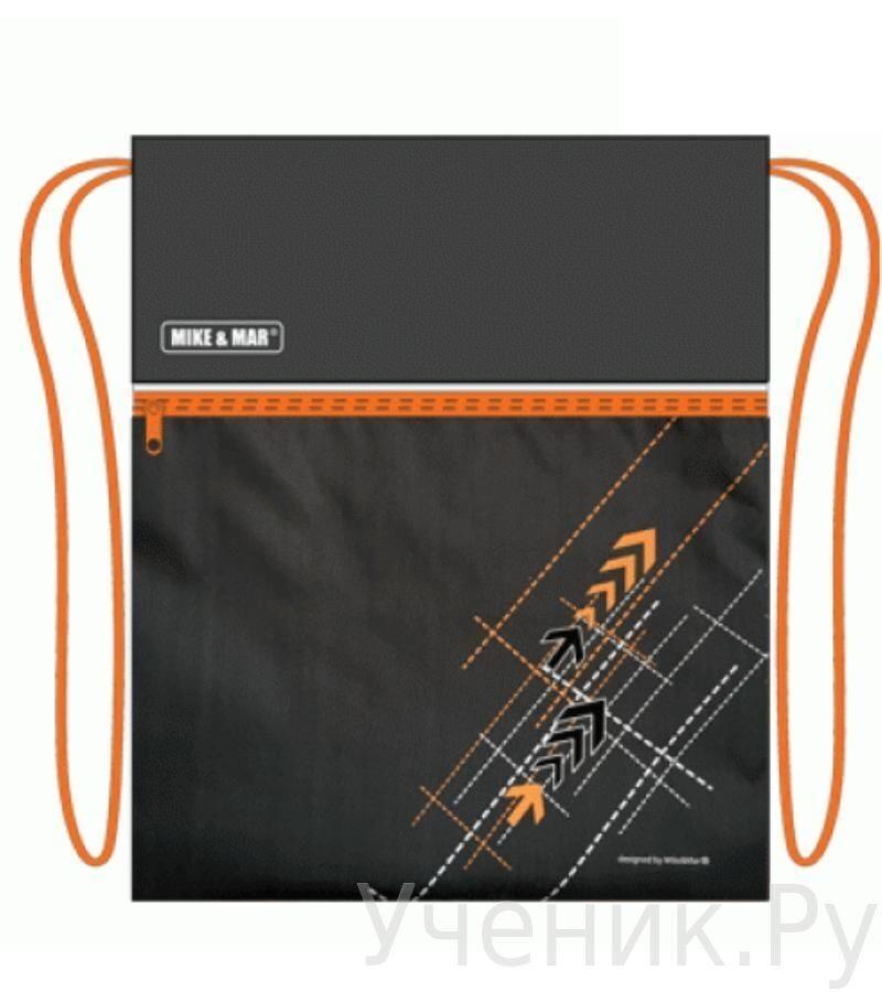 """Мешок для сменной обуви Mike & Mar """"Стрелы"""" черно-оранжевый MB096"""