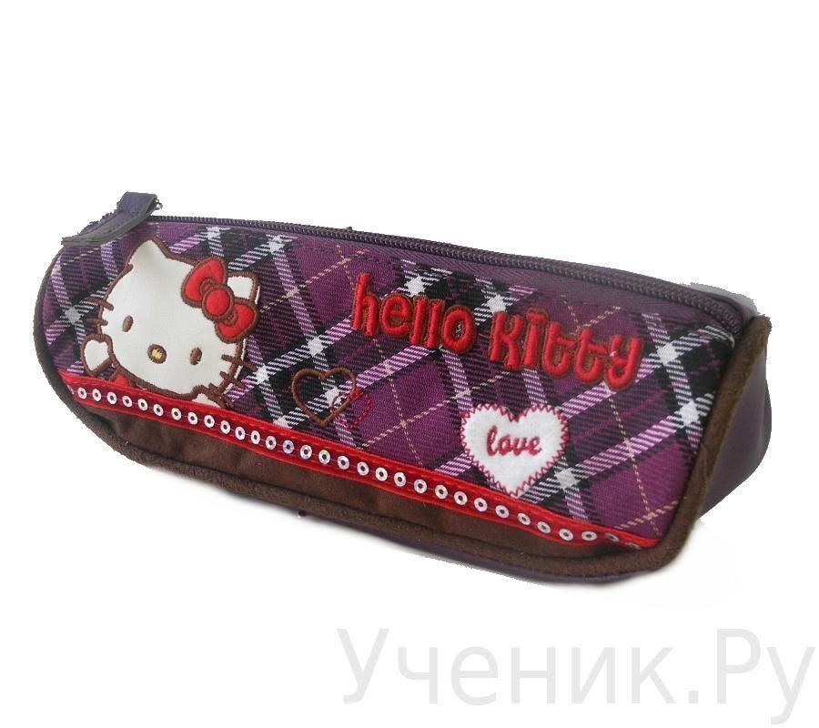 "Пенал-тубус школьный ""Hello Kitty"" Scottish фиолетовый 503026-HK-SH"