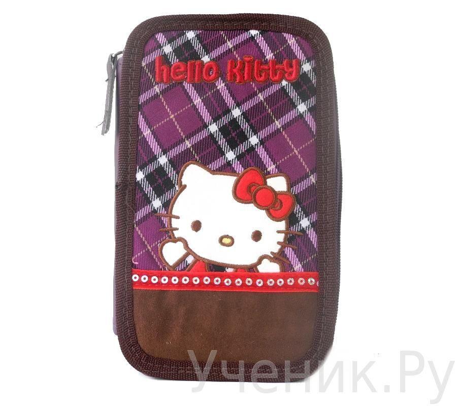 "Пенал школьный ""Hello Kitty"" Scottish фиолетовый 503081-HK-SH"