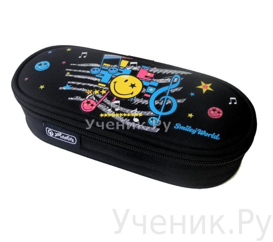 "Пенал школьный Herlitz CASE ""Smiley World Pop"" Herlitz (Германия) 11281565"