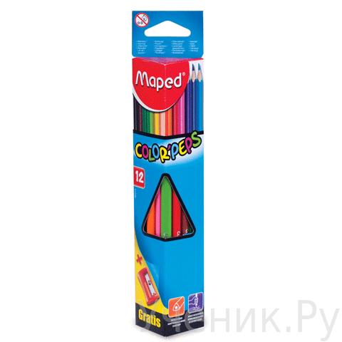 """Цветные карандаши """"Maped"""" 12 цветов Kooh-i-noor (Чехия) 183213"""