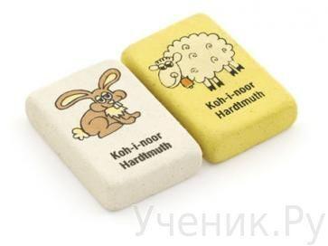 Набор ластиков цветных с рисунком 3шт., Koh-i-noor (Чехия) 6875/40