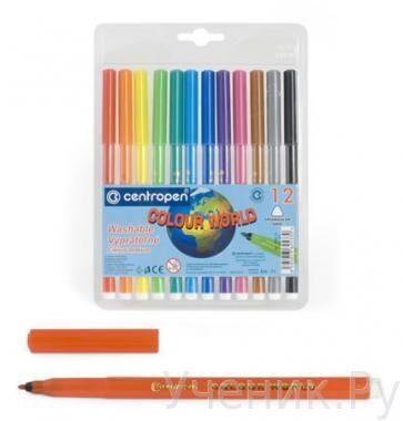 """Фломастеры """"Centropen"""" """"Colour World"""" 12 цветов Centropen (Чехия) 7550/12 TP"""