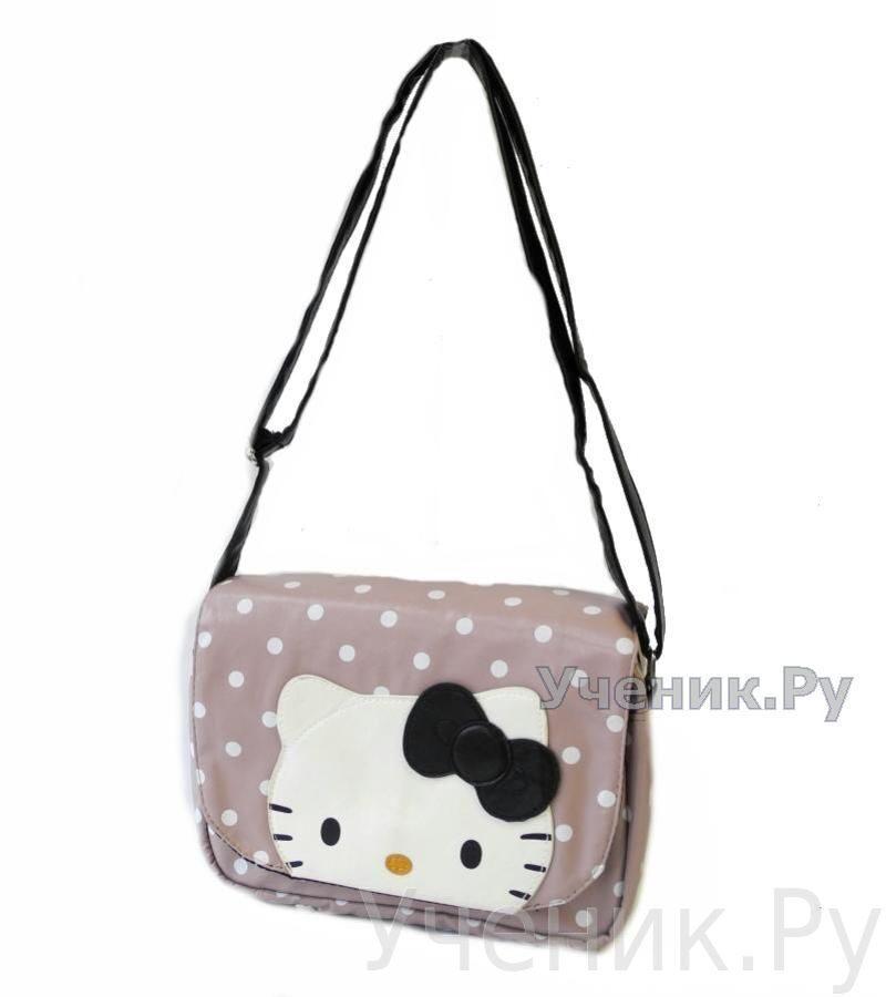 6ad84c6d1dd8 Розовая полосатая сумка с Hello Kitty и объемными пластиковыми  аппликациями. Комментарий: ...