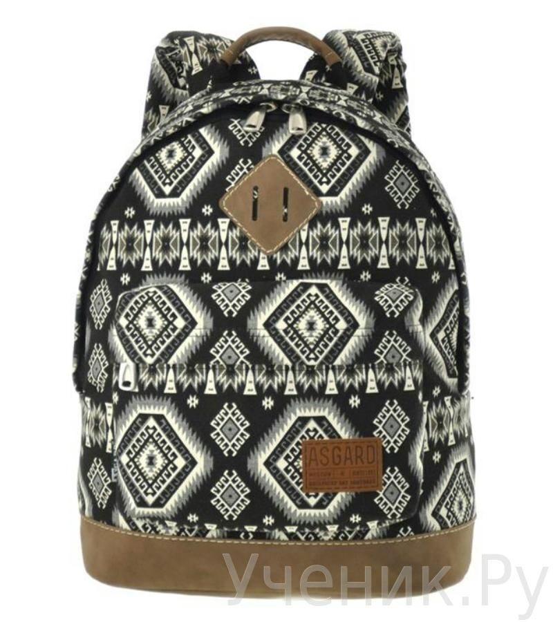 """Молодежный рюкзак ASGARD """"СкандиКристал"""" черно-серый 5437-34"""