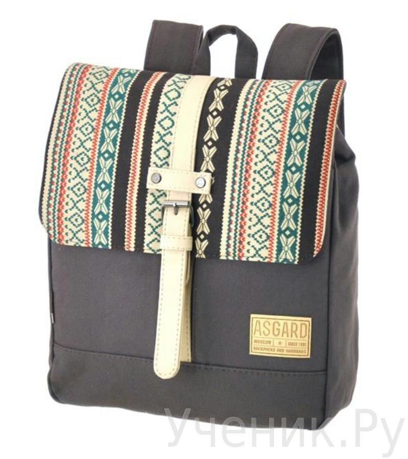 "Молодежный рюкзак ASGARD ""Капучино - Орнамент коричн-беж."" 5543-9"