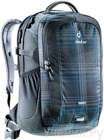 """Молодежный рюкзак Deuter """"Giga"""" черно-синяя клетка Deuter (Германия) 80414-7309"""