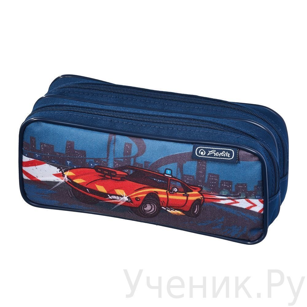 "Пенал школьный Herlitz ""FIRE ENGINE"" c двумя молниями Herlitz (Германия) 11438223f"