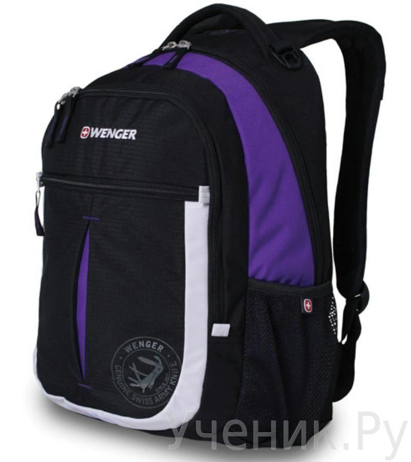 Школьный рюкзак WENGER чёрный/фиолетовый/серебристый WENGER (Швейцария) 13852915