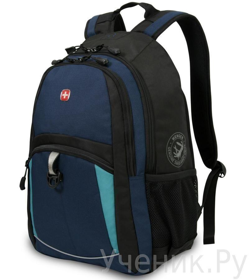 Школьный рюкзак WENGER синий/черный/бирюзовый WENGER (Швейцария) 3191203408