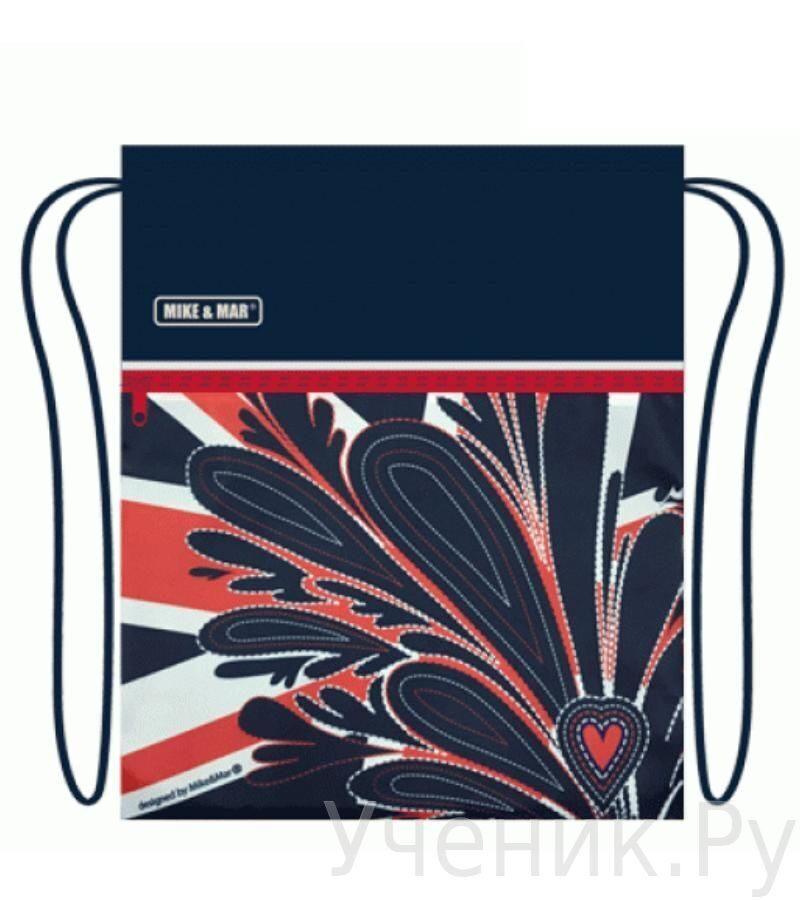 """Мешок для сменной обуви Mike & Mar """"London"""" темно-синий MB080"""