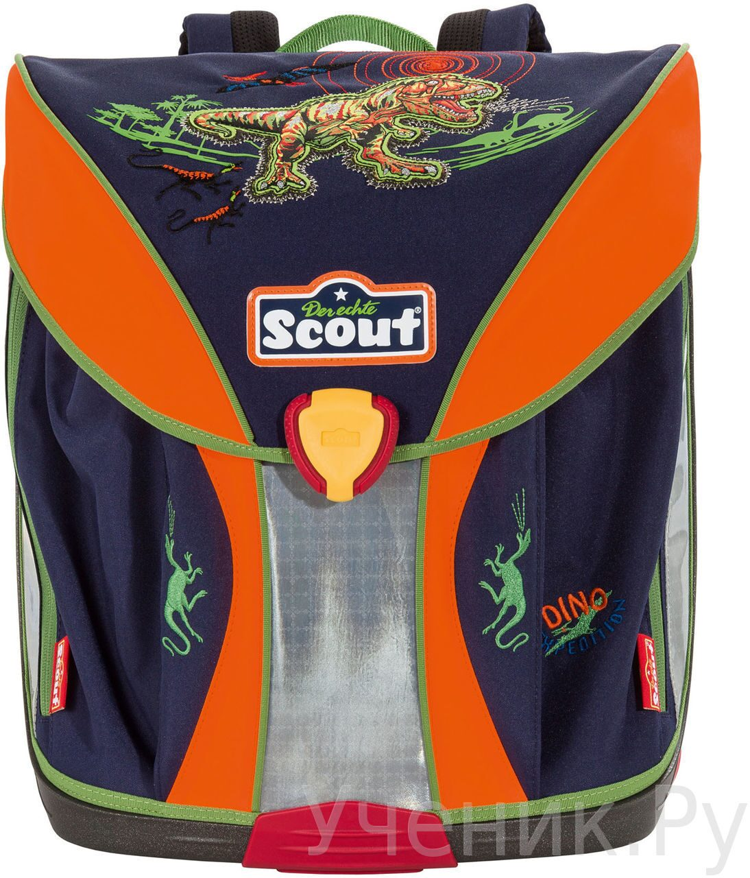 """Ранец школьный Scout модель """"Nano"""" DINO EXPEDITION с наполнением Scout (Германия) 715004-637"""