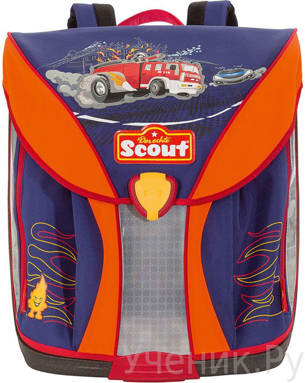 """Ранец школьный Scout модель """"Nano"""" FEUERWEHRF с наполнением Scout (Германия) 715007-961"""