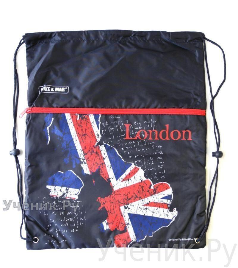 """Мешок для сменной обуви Mike & Mar """"Лондон"""" темно-синий MB061"""