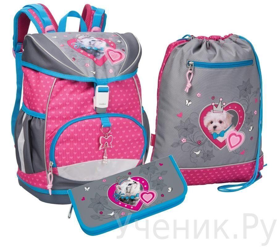 """Школьный рюкзак Erich Krause (Эрих Краузе) модель ERGO FLY """"My Favorite Pets"""" с наполнением Erich Krause (Германия) 37456set"""
