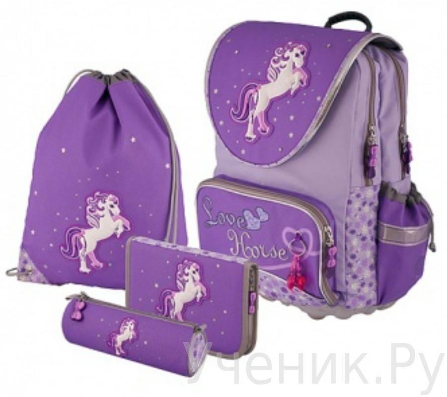 """Рюкзак школьный School Point """"Love Horse"""" с наполнением OPTEX Handels GmbH 76304"""