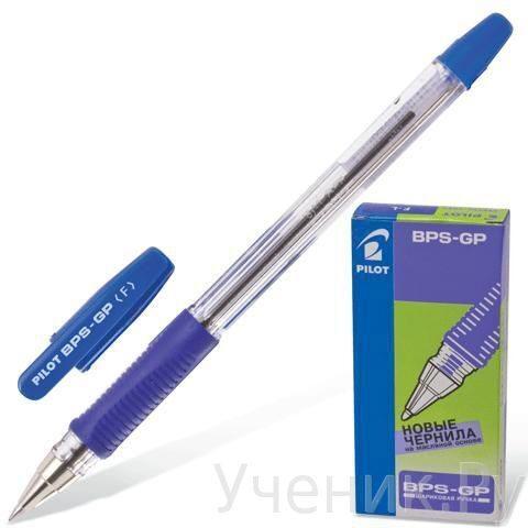 Ручка шариковая PILOT с резиновым упором - синяя PILOT (Япония) BPS-GP-F-BLUE