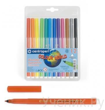 "Фломастеры ""Centropen"" ""Colour World"" 12 цветов Centropen (Чехия) 7550/12 TP"