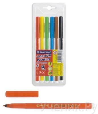 "Фломастеры ""Centropen"" ""Colour World"" 6 цветов Centropen (Чехия) 7550/6 TP"