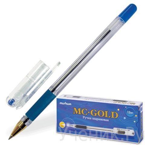 Ручка шариковая MC GOLD чернила на масл. основе - синяя Munhwa (Корея) MC-02