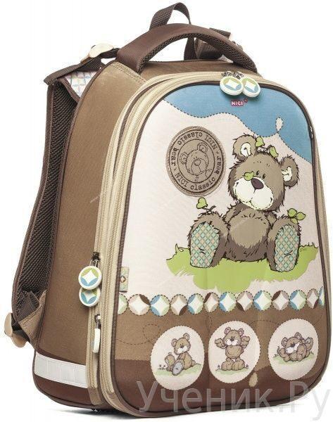 """Школьный рюкзак Hatber модель Ergonomic """"Любимый мишка"""" NR_14926"""