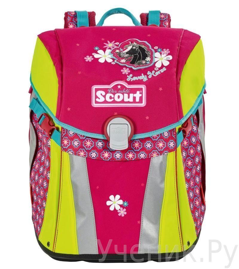 """Ранец школьный Scout модель """"Sunny"""" LOVELY HORSE с наполнением Scout (Германия) 735105-131"""