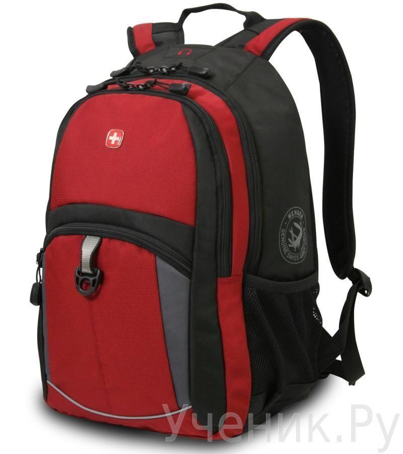 Школьный рюкзак WENGER красный/черный/серый WENGER (Швейцария) 3191201408