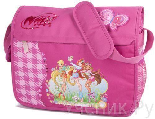 """Школьная сумка LYC SAC """"Winx"""" клетка/розовый 13165"""