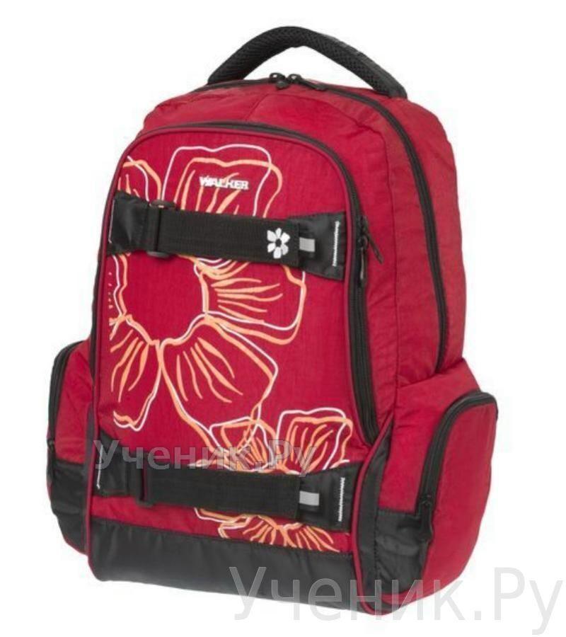 """Школьный рюкзак Walker """"Flower"""" красный Schneiders (Австрия) 42700/50"""