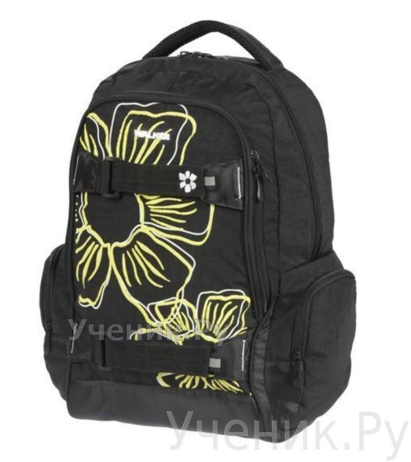 """Школьный рюкзак Walker """"Flower"""" черный Schneiders (Австрия) 42700/80"""
