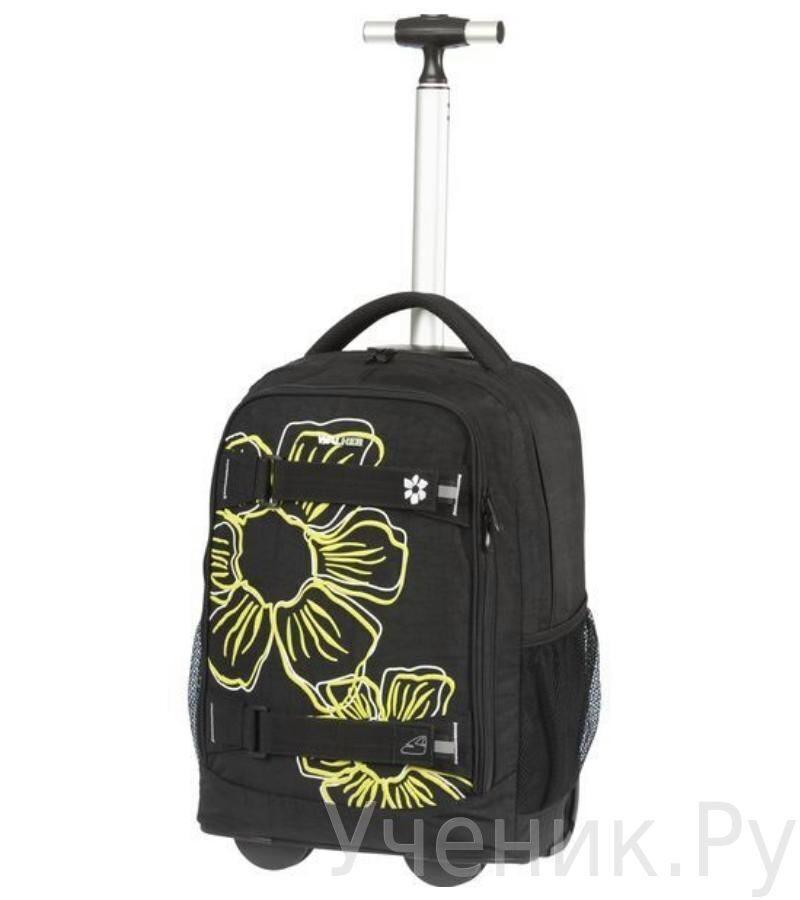 """Школьный рюкзак Walker """"Flower"""" на колесах черный/желтый Schneiders (Австрия) 42706/80"""