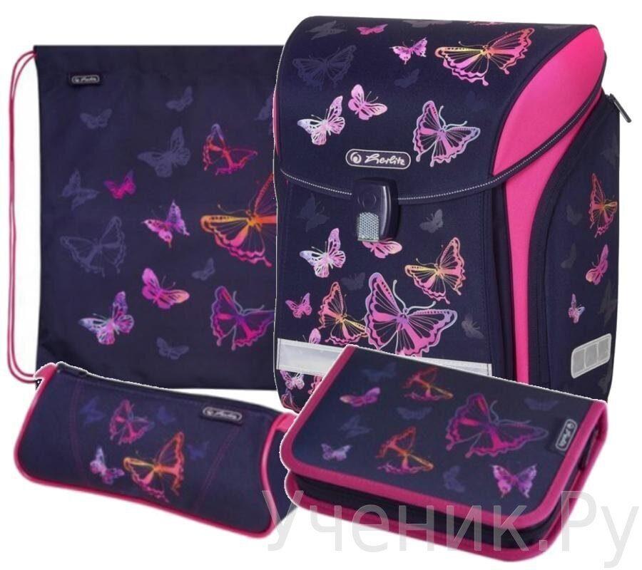 fed401329c83 Ранец Herlitz 50020416 New Midi Rainbow Butterfly. Особенности школьного ...