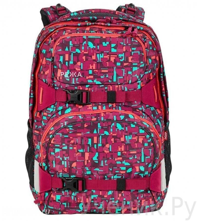 01c7a8ae84f6 Школьный рюкзак 4YOU PEKKA Geometric Red купить в интернет-магазине ...