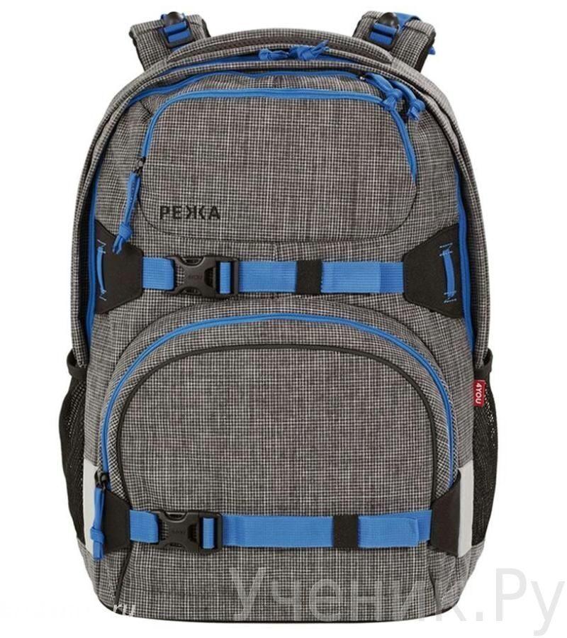 8da226808075 Школьный рюкзак 4YOU PEKKA Pixels Grey купить в интернет-магазине ...