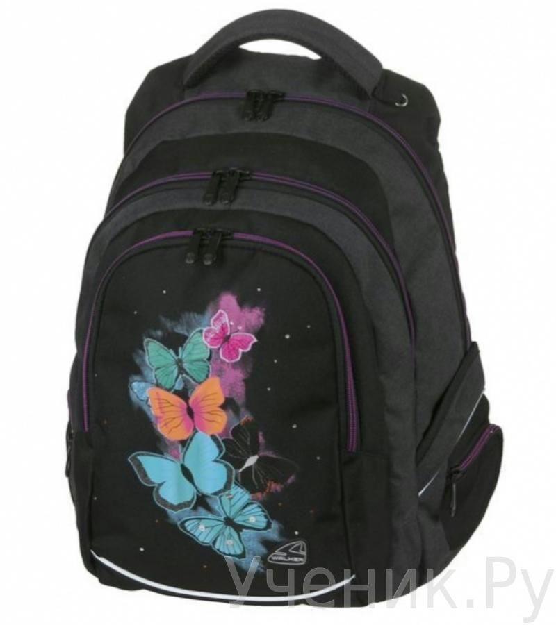 ef3ebd25a8be Школьный рюкзак Walker модель FAME BUTTERFLY черный