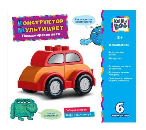 Отверточный конструктор Kribly Boo набор Пассажирское Авто Мультицвет 6 элементов
