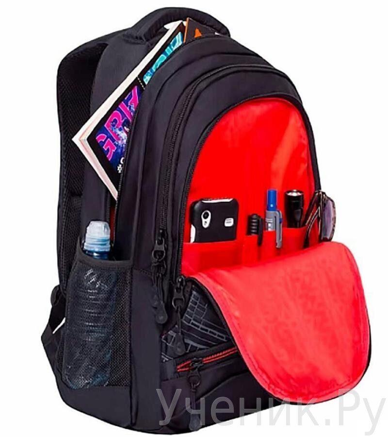 Рюкзак молодежный Grizzly Grizzly RU-804-3 Черный-3