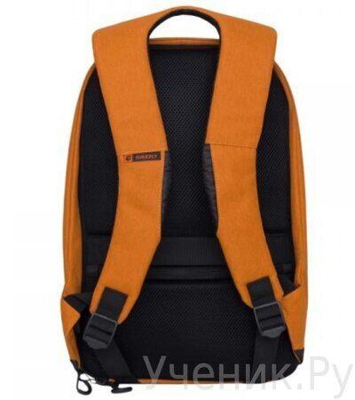 Рюкзак молодежный Grizzly RQ-920-1-1 черный - оранжевый-2