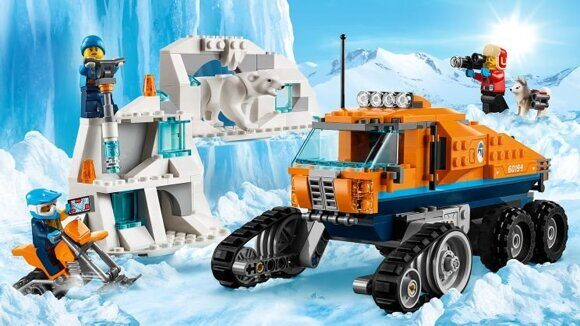 конструктор lego Арктическая экспедиция Грузовик ледовой разведки 60194-6