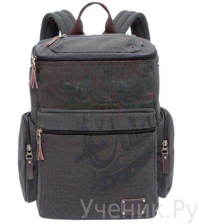 Рюкзак молодежный Grizzly RU-702-1 серо-коричневый
