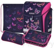 Ранец школьный Herlitz серия MIDI New Plus RAINBOW BUTTERFLY с наполнением