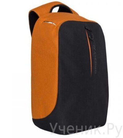 Рюкзак молодежный Grizzly RQ-920-1-1 черный - оранжевый-1