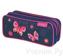 Пенал школьный Herlitz PURPLE BUTTERFLY