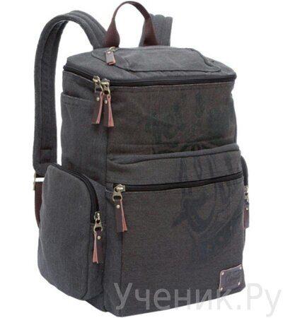 Рюкзак молодежный Grizzly RU-702-1 серо-коричневый-1