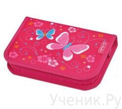 Пенал школьный Herlitz Girls Mix BUTTERFLY (19 предметов)