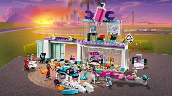 Конструктор LEGO Friends Подружки Набор Мастерская по тюнингу автомобилей 41351-4