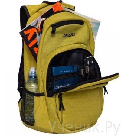 Рюкзак молодежный Grizzly RQ-900-1 табачный-3