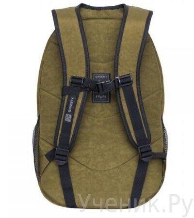 Рюкзак молодежный Grizzly RQ-900-1-2  хаки-1
