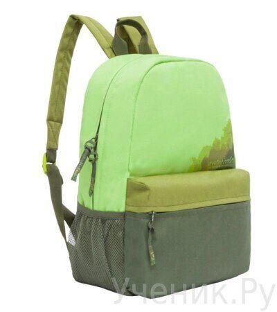 Рюкзак Grizzly салатовый (арт. RL-855-3-3)-1