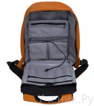 Рюкзак молодежный Grizzly RQ-920-1-1 черный - оранжевый-3